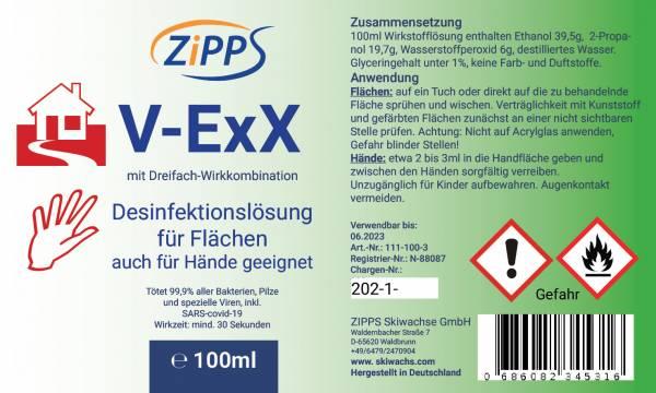 Flächendesinfektionsmittel V-ExX Etikett