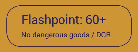 Aufkleber Flashpoint 60+ No Dangerous Goods / DGR