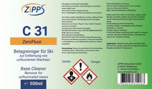 C 31 Belagreiniger 500ml fluorfrei, Etikett