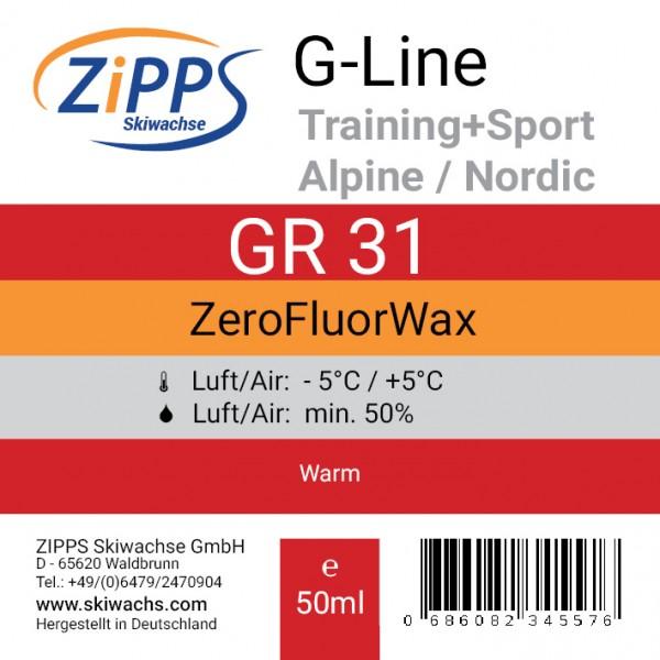 Vorderseite Etikett GR 31