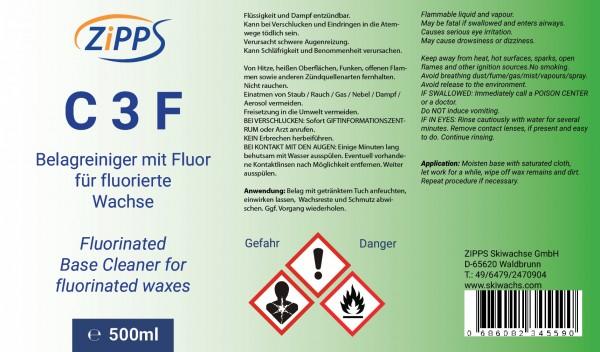 Etikett Belagreiniger fuoriert für fluorierte Wachse