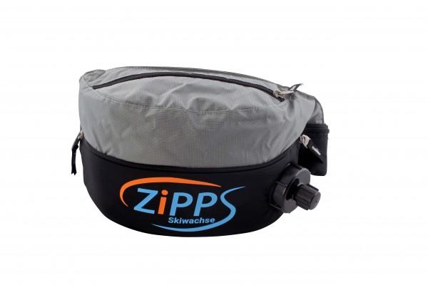 Ansicht schwarz/grauer Trinkgurt mit ZIPPS-Logo
